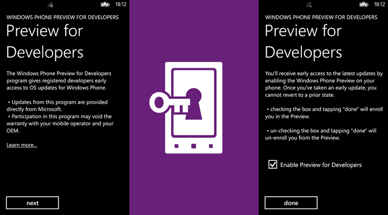 Windows Phone Preview for Developers