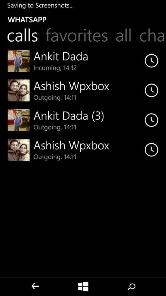 Pantalla de contactos de WhatsApp