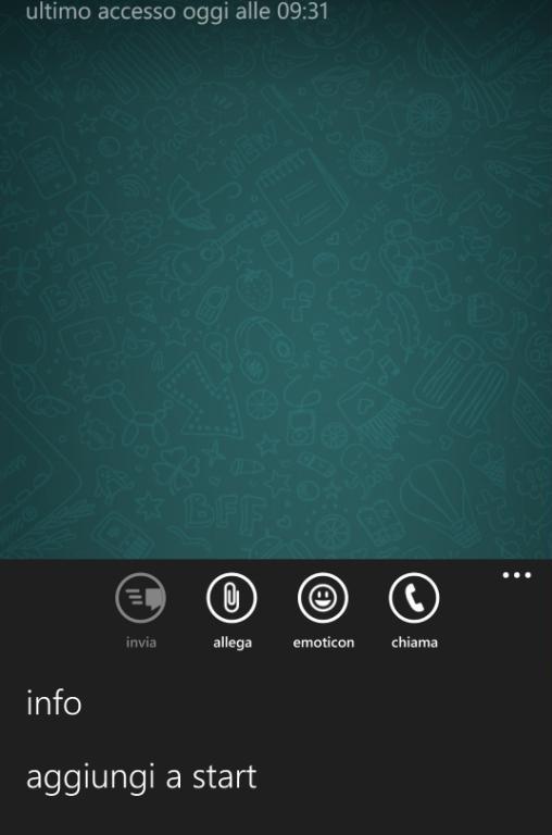 Menú de opciones para poder llamar en WhatsApp