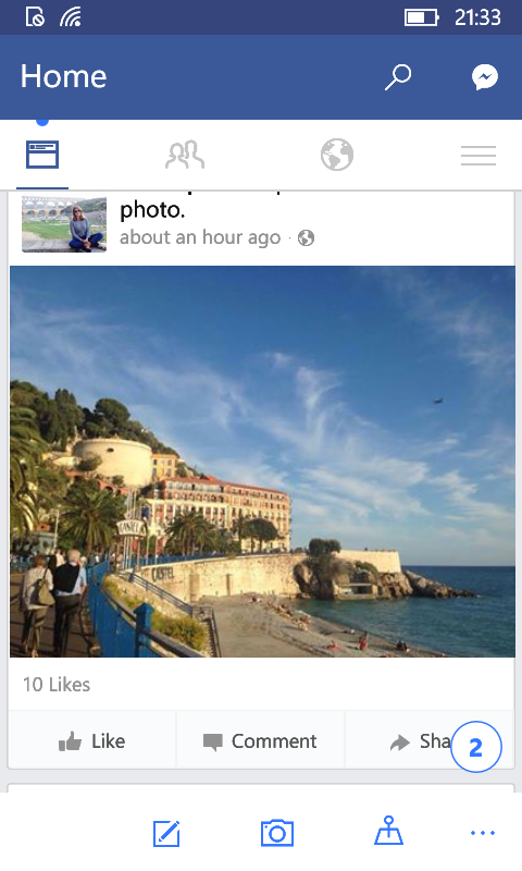 Inicio de Facebook