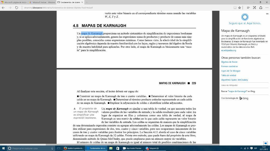 Preguntar a Cortana sobre un PDF