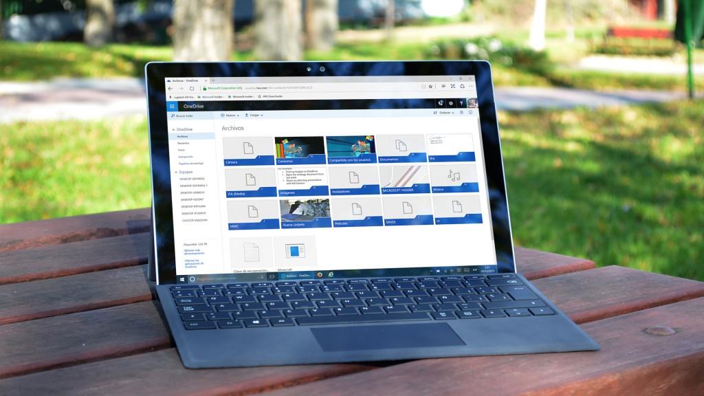 OneDrive en una Surface Pro 4