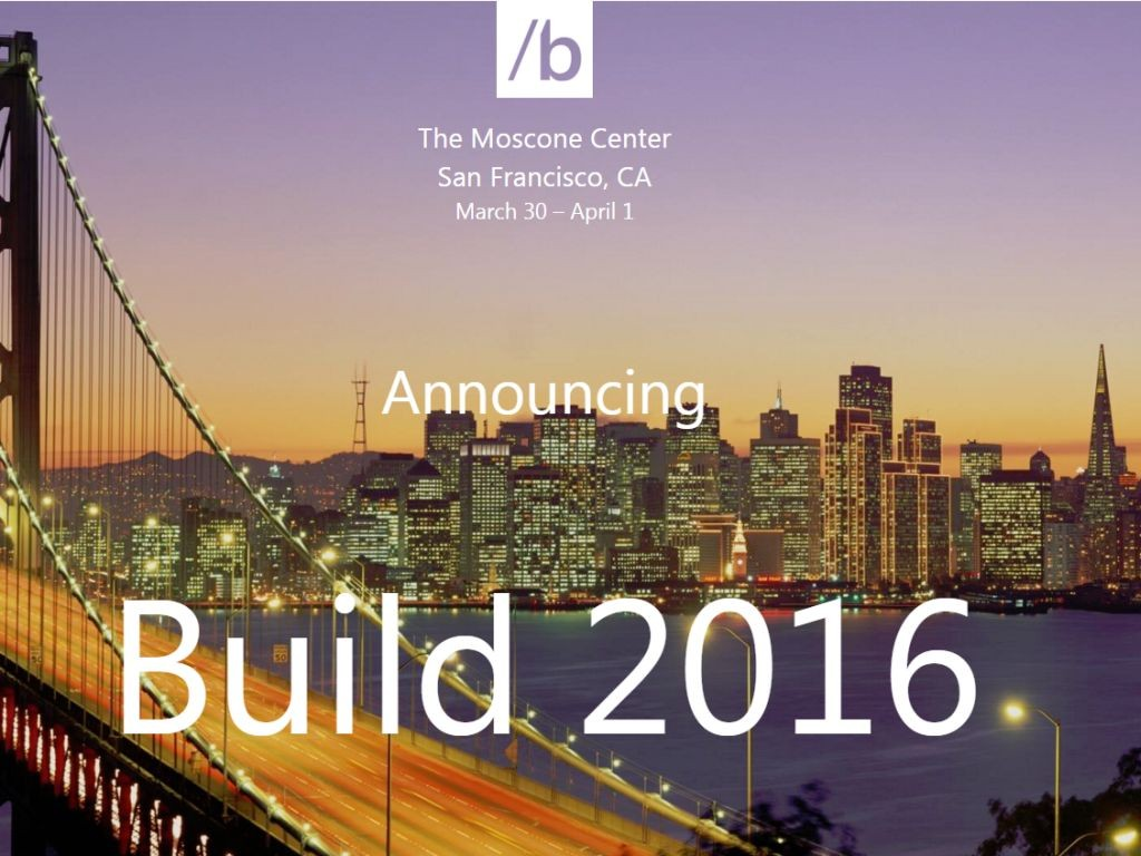 San Francisco Build 2016