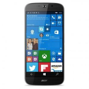 Vista frontal con Windows 10 Mobile