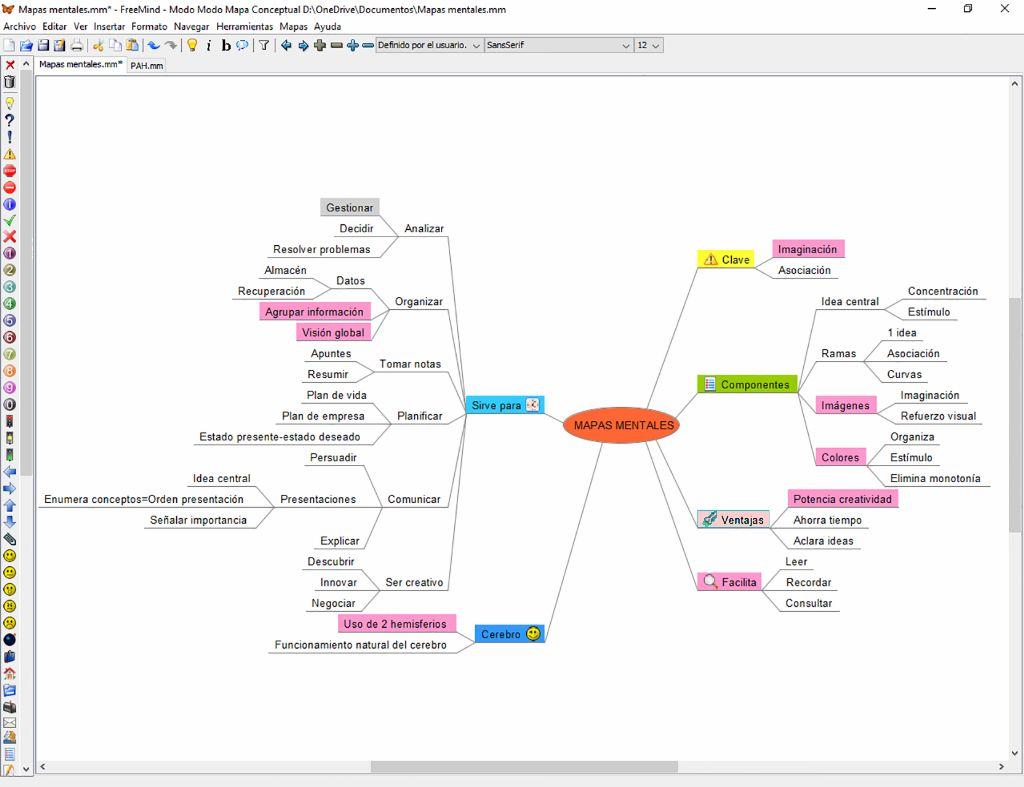 Interfaz de la app de escritorio