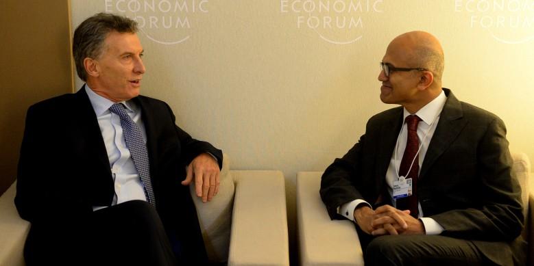 Se reunieron durante el Foro Económico Mundial