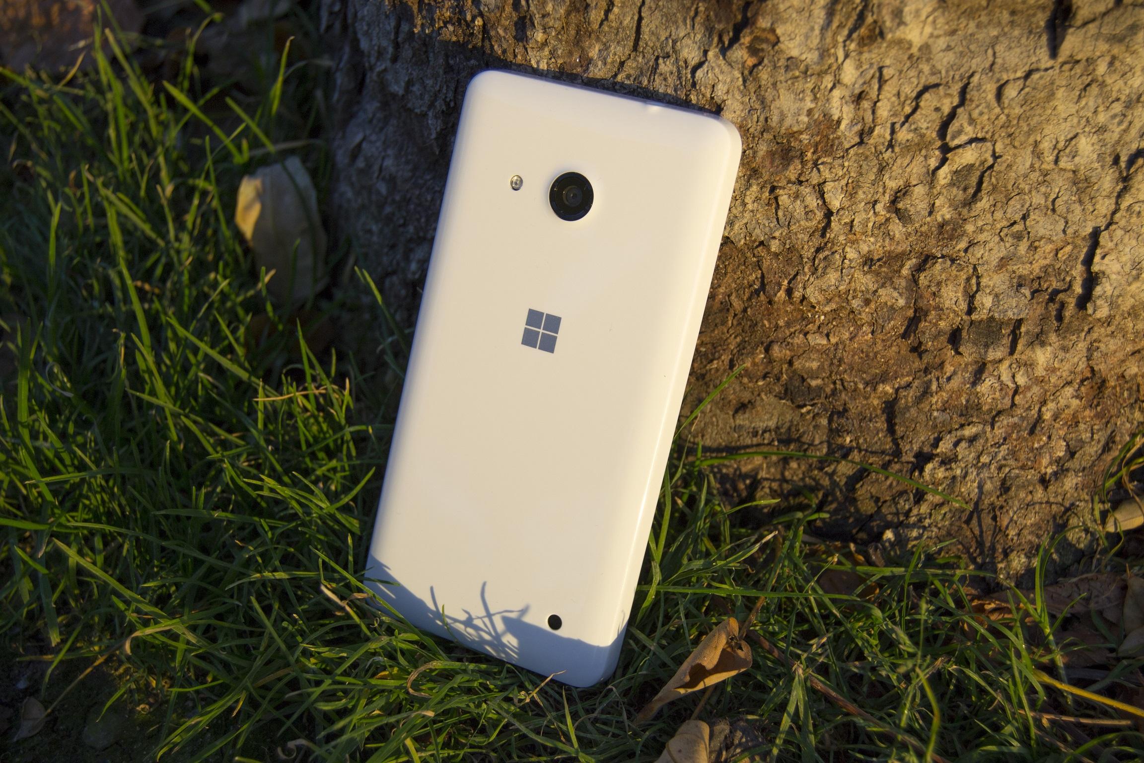 Parte trasera del Lumia 550