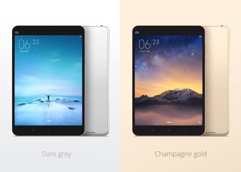 Las 2 variantes de color de la Xiaomi MiPad 2