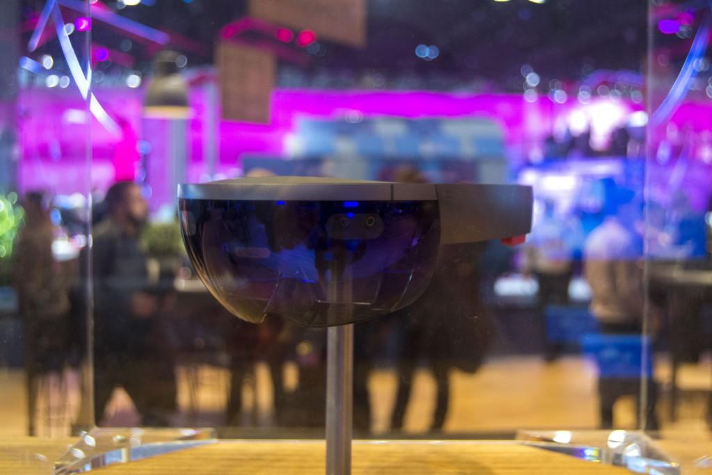 Fotografía a las HoloLens en el MWC