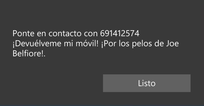 Mensaje block