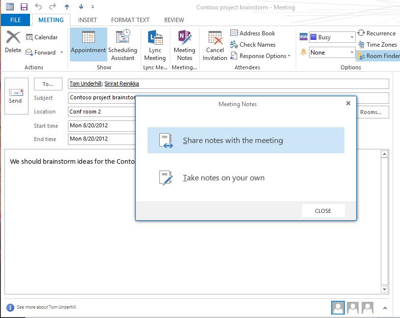 OneNote en Microsoft™ Outlook™