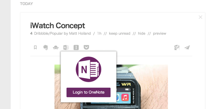Feedly y OneNote