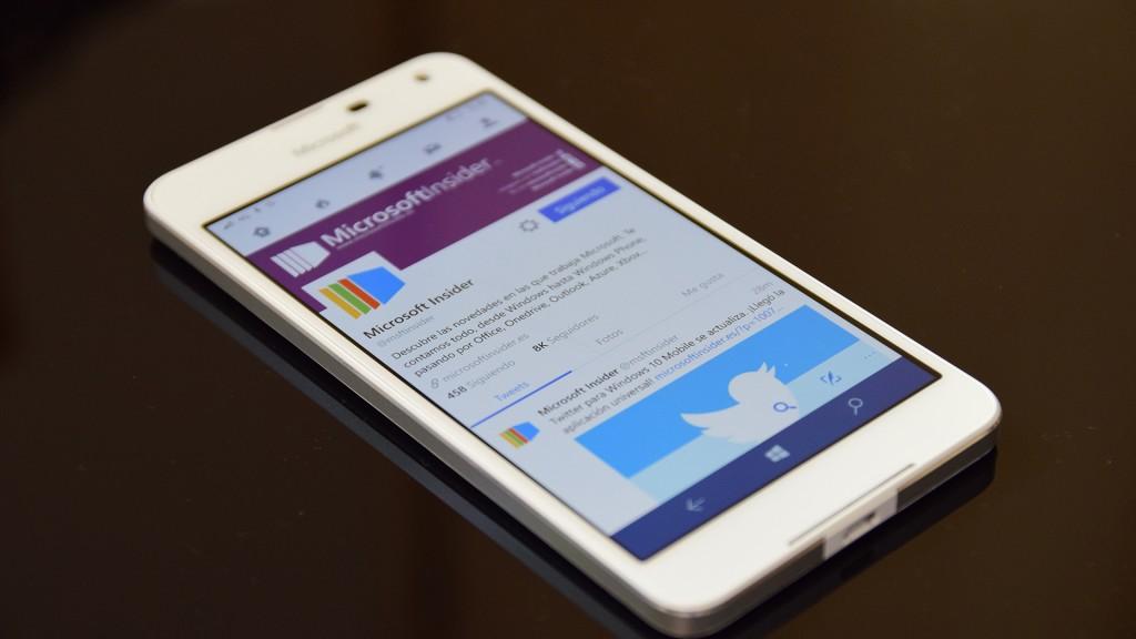 Twitter en Lumia 650