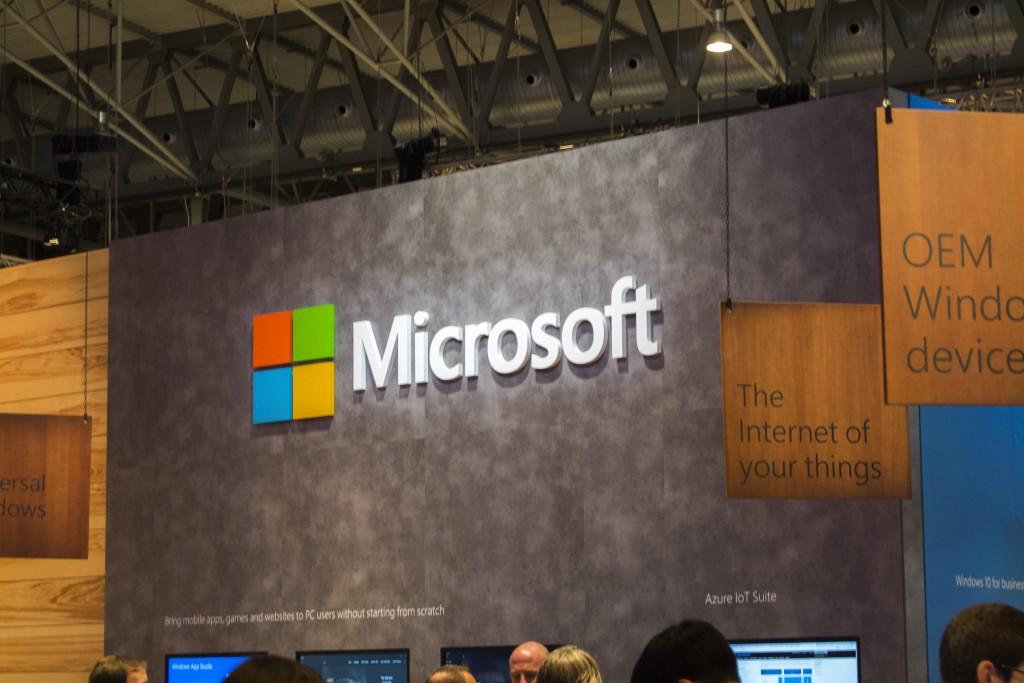 Stand de Microsoft en el Mobile World Congress