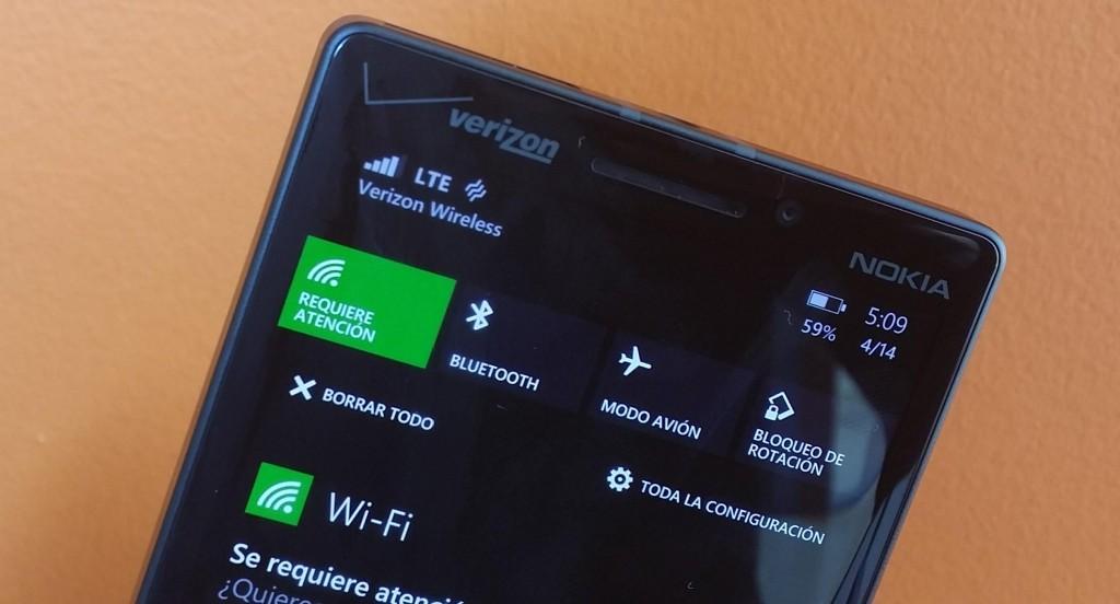 Acciones en Windows Phone
