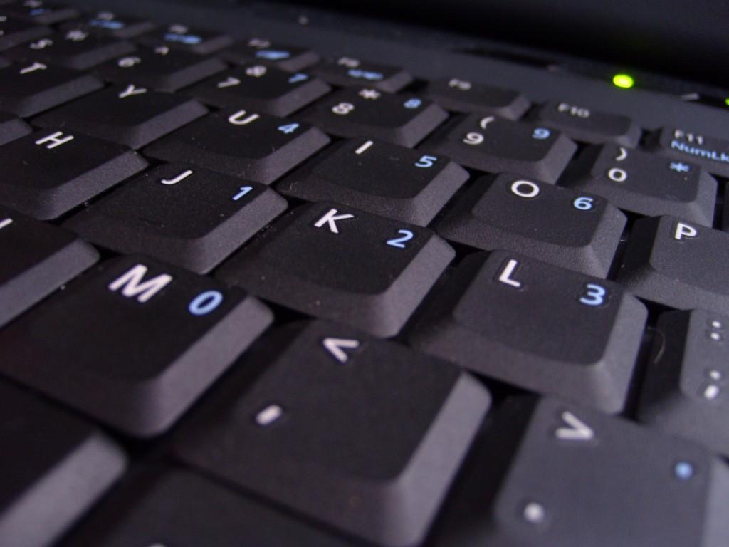 Fotografía macro de un teclado