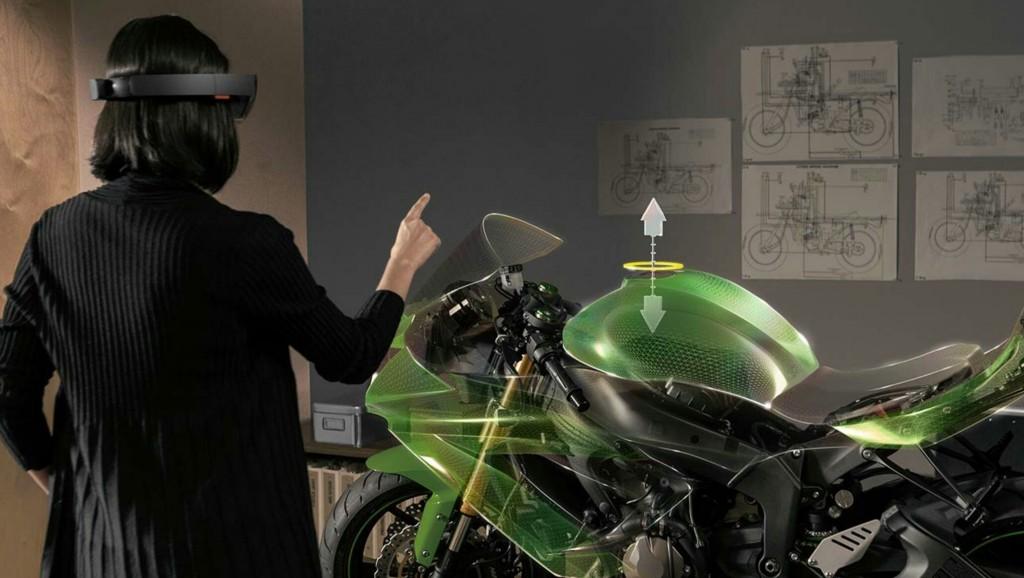 Diseño de una moto usando HoloLens