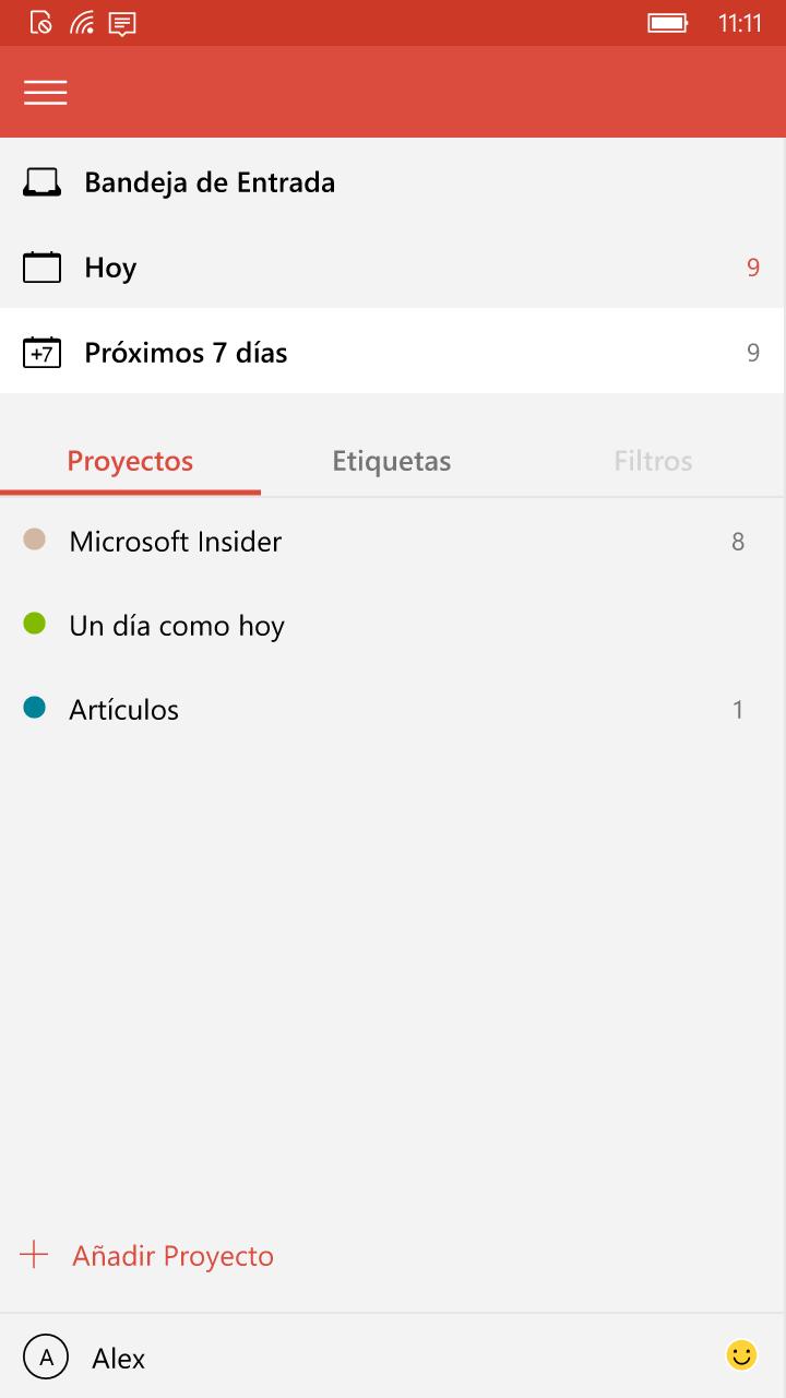 Todoist llega de forma oficial a Windows 10 Mobile