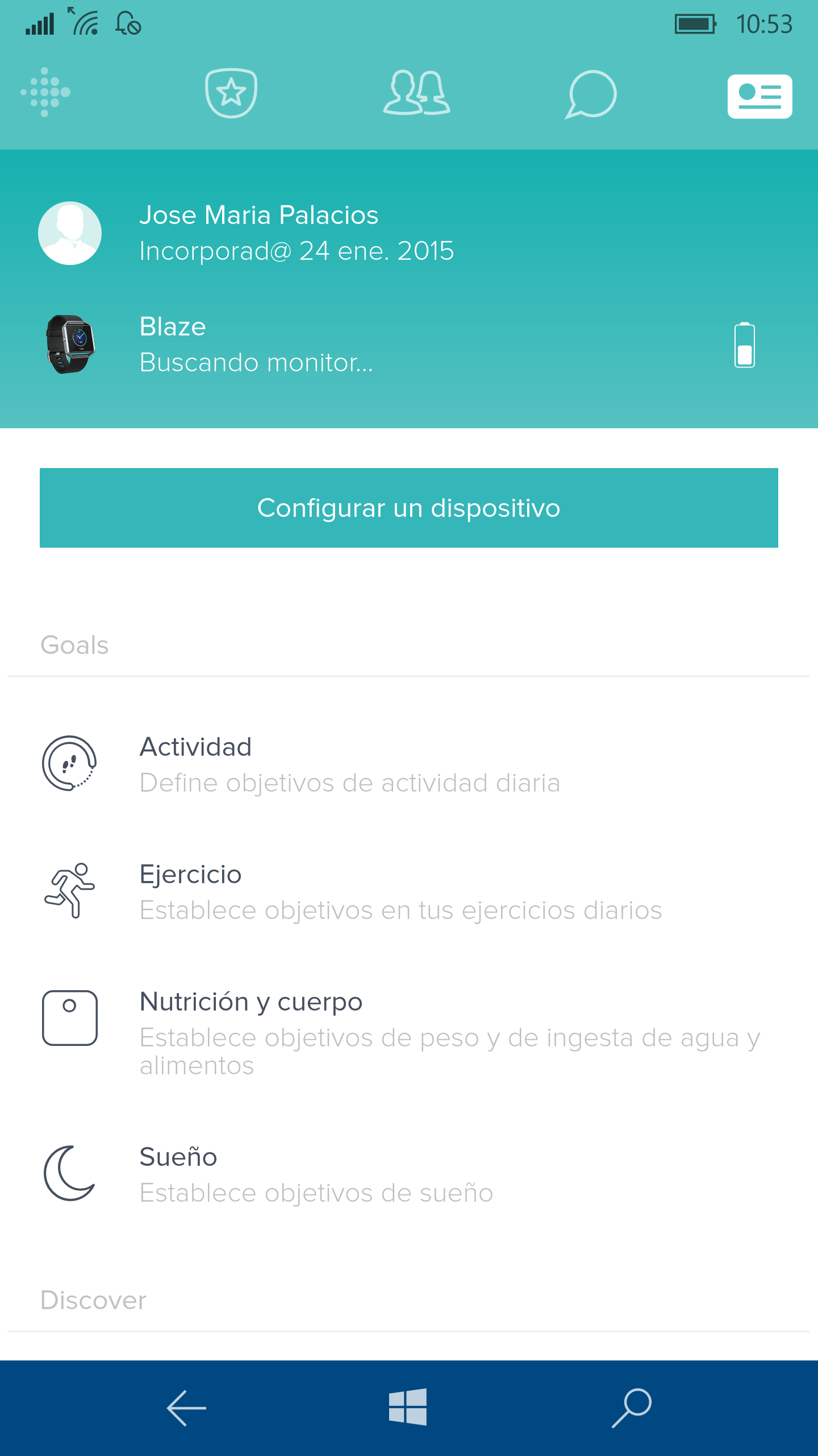 Fitbit mejora su aplicación de Windows 10 Mobile