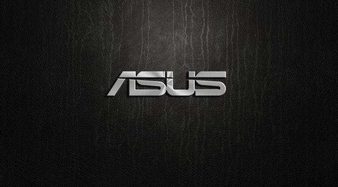 Logo de ASUS plateado