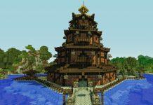 Pagoda china en Minecraft