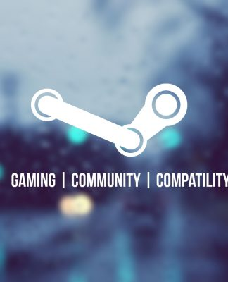 Logo de Steam con fondo