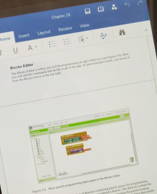 Documento de Word en smartphone con Android