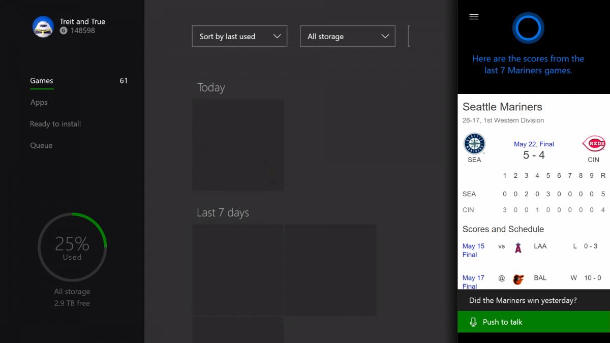 Así es Cortana en Xbox™ One
