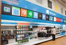 Sección de Microsoft en Best Buy