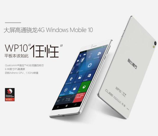 Cube WP10, un phablet con Windows 10 Mobile