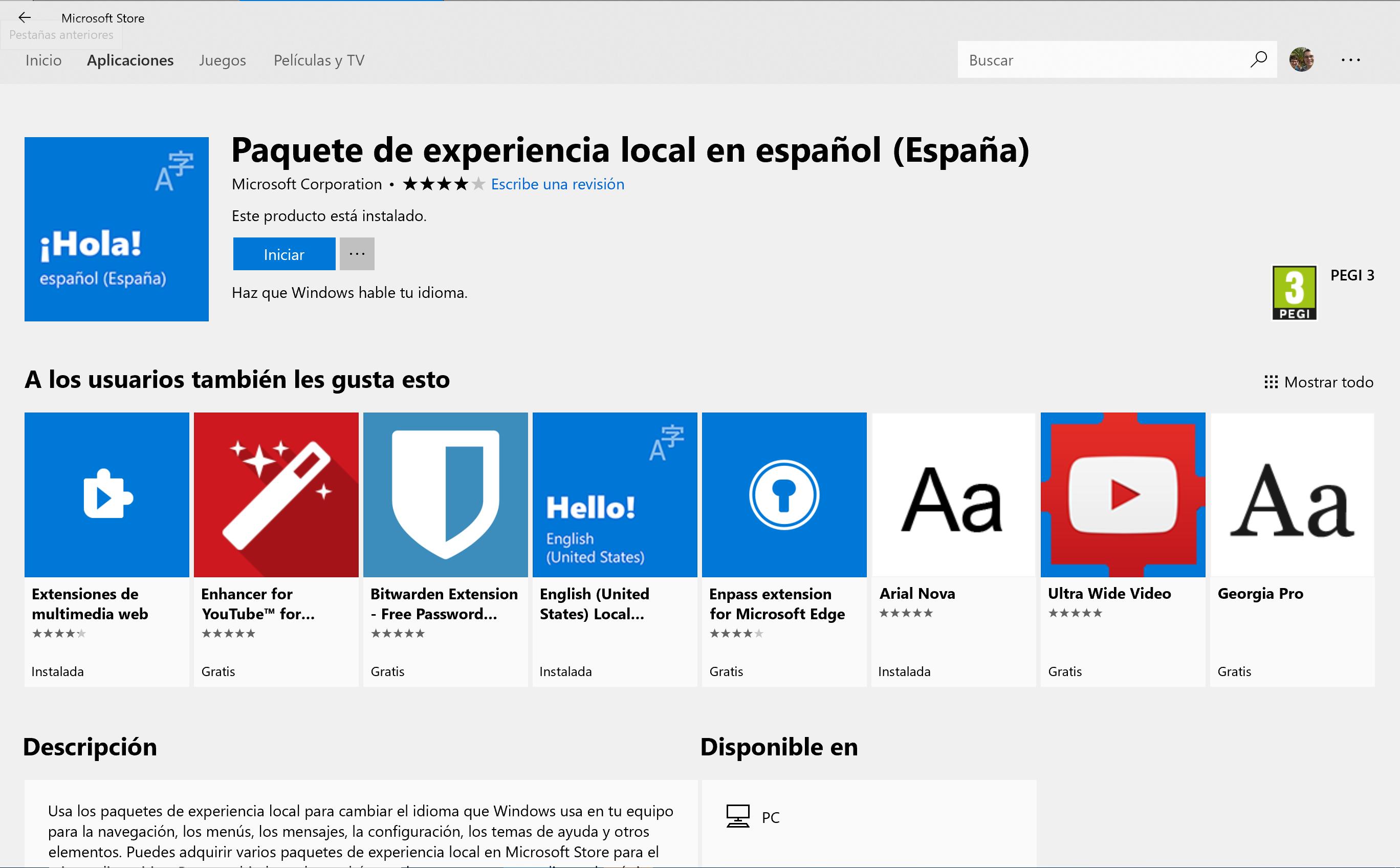 Paquetes de experiencia en la Microsoft Store