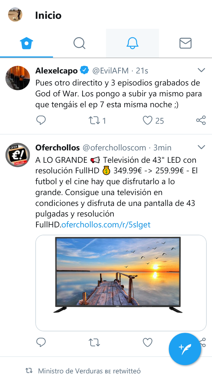Twitter PWA en Windows 10 Mobile